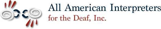 All American Interpreters for the Deaf, Inc. Logo